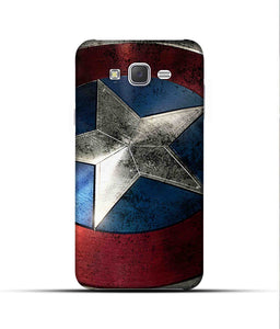 """Captain America"" Printed Matt Finish Mobile Case for Samsung J7 2015"