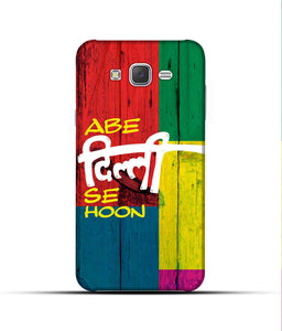 """Abe Delhi See Hoon"" Printed Matt Finish Mobile Case for Samsung J7 2015"