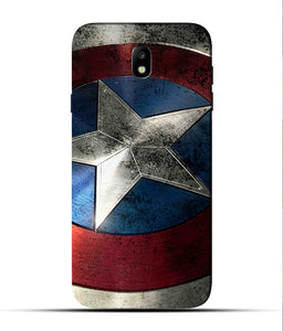 """Captain America"" Printed Matt Finish Mobile Case for Samsung J7 Pro"