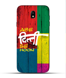 """Abe Delhi See Hoon"" Printed Matt Finish Mobile Case for Samsung J7 Pro"
