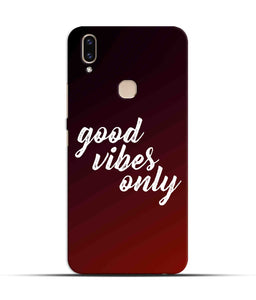 """Good Vibes Only"" Printed Matt Finish Mobile Case for Vivo V9"