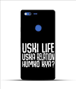 """Uski Life Uska Relation Humko Kya?"" Printed Matt Finish Mobile Case for Google Pixel Xl"