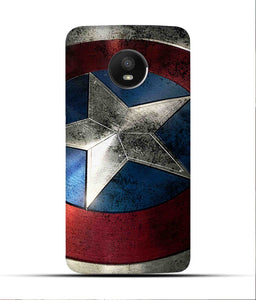 """Captain America"" Printed Matt Finish Mobile Case for Moto E4 Plus"