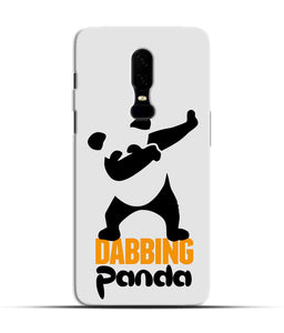 """Dabbing panda"" Printed Matt Finish Mobile Case for One Plus Six"