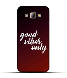 """Good Vibes Only"" Printed Matt Finish Mobile Case for Samsung A8"
