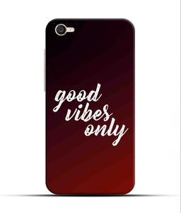 """Good Vibes Only"" Printed Matt Finish Mobile Case for Vivo Y55"