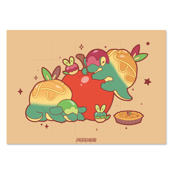 5 x 7 APPLE DRAGONS PRINT