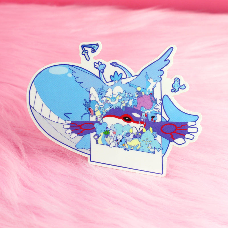 BLUE SNAP STICKER