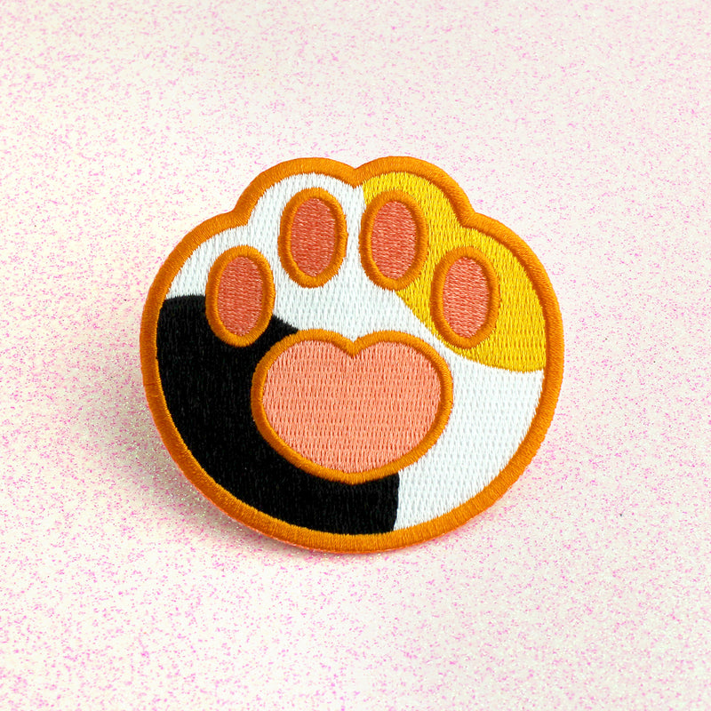CALICO PAW IRON-ON PATCH