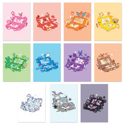 11 PIECE COLORFUL 3DS PRINT SET