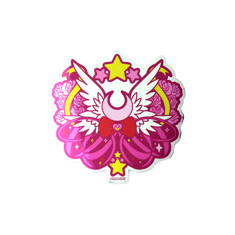 CHIBI MOON POWER EMBLEM STICKER