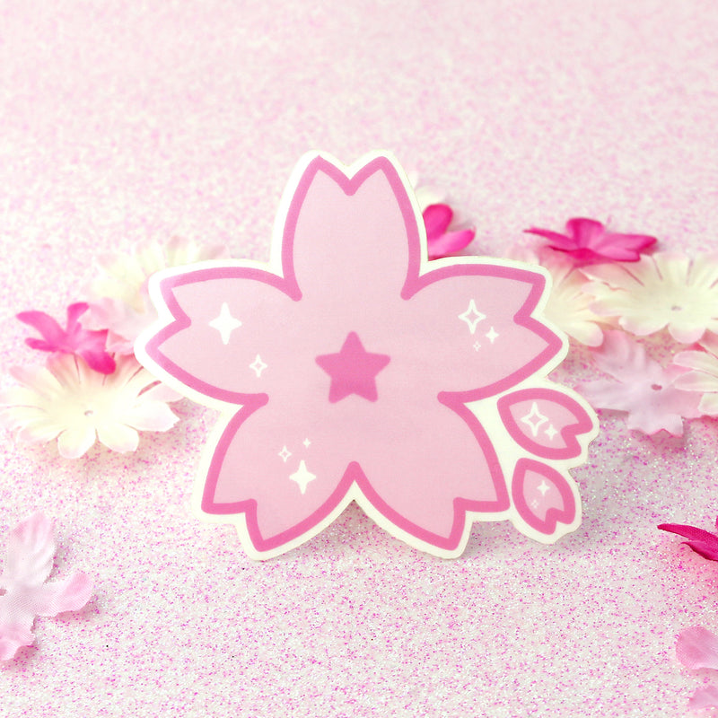 CLEAR SAKURA FLOWER STICKER