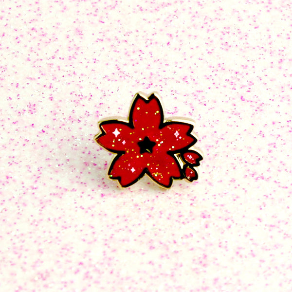HOT PINK SAKURA MINI PIN