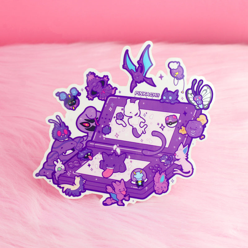PURPLE 3DS STICKER