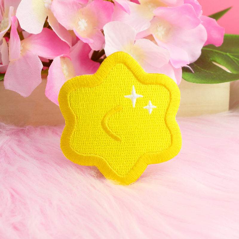 YELLOW KONPEITO IRON-ON PATCH