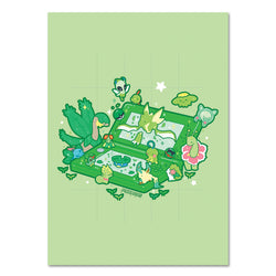 5 x 7 GREEN 3DS PRINT