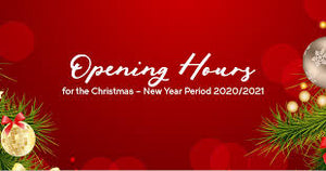 Opening hours Christmas and New Year 2021