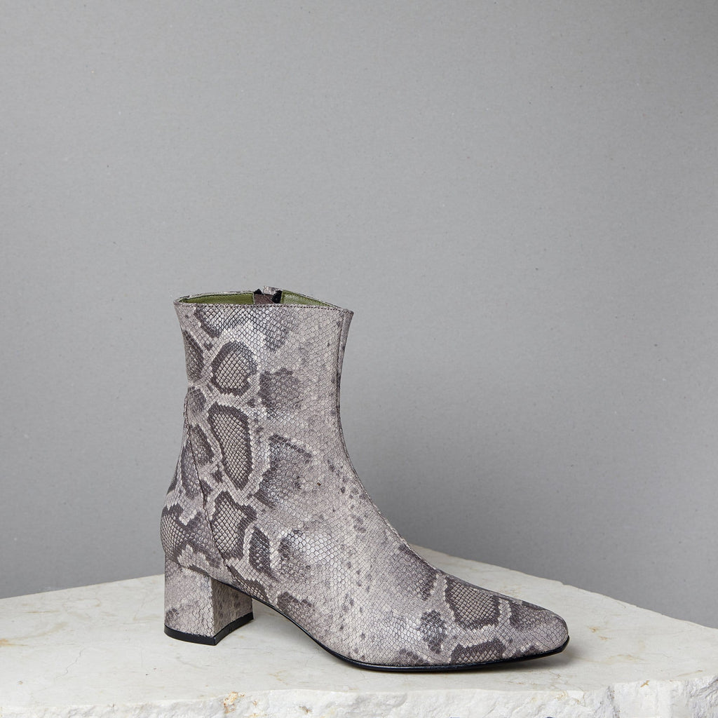 Lou Luxury Footwear: Simone Boot - Women's Python Ankle Boot, Handmade in LA
