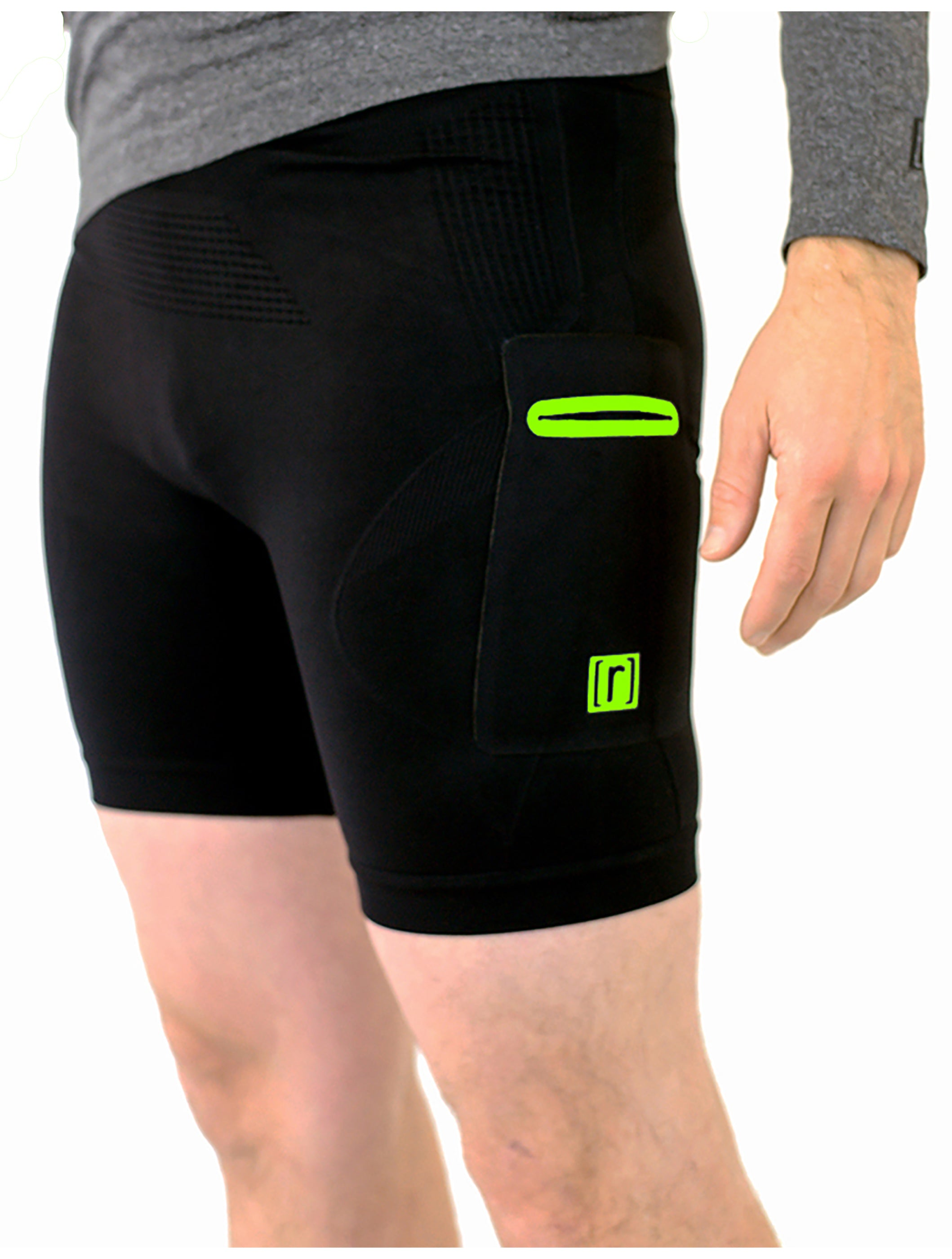 "6"" Base Compression Short 2.0 -NEON - ruhn co. apparel"