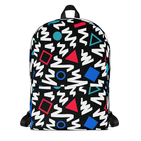 90s Square and Circles Pattern Backpack
