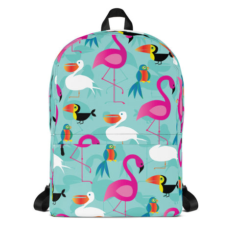 Tropical Birds Pattern Backpack