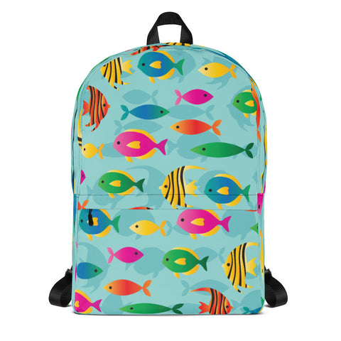Tropical Fish Pattern Backpack