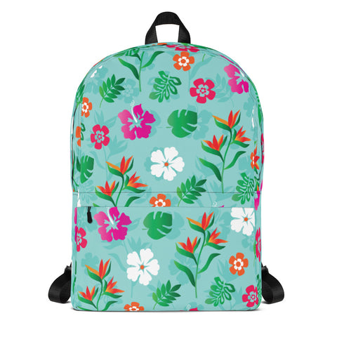 Tropical Flowers Pattern Backpack