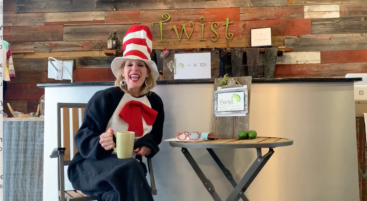 Enjoy Sue for a quick laugh today during our Twist Time @ 10am :)