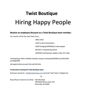 We are Hiring Happy People!