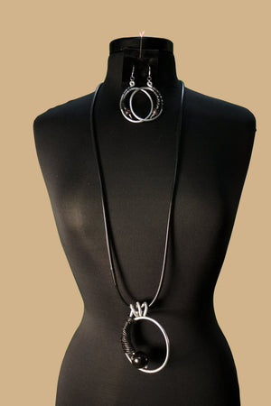NKL 203 Tagua Wrap Convertible Necklace