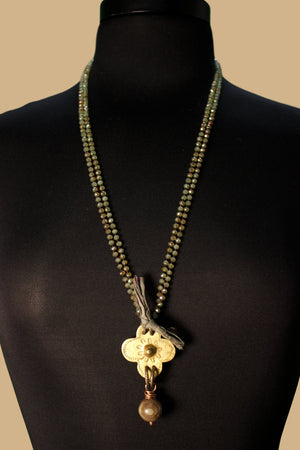Antique Flower Power Necklace