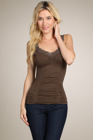 1878 Seamless Corset Cami w/Lace