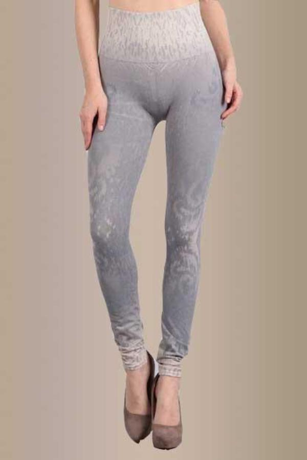 B2361USAL BLUE GRAY BURNOUT SWIRL LEGGING