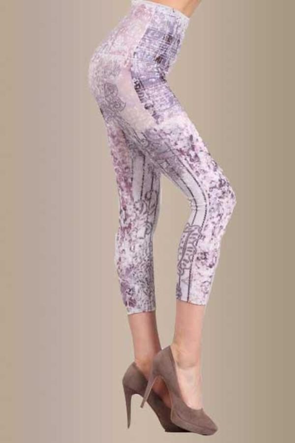 B2370AS Capri/Short Romantic Garden Leggings