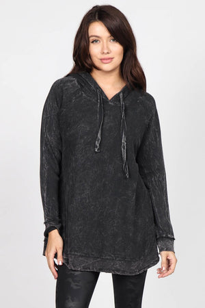 S4798A Mineral Washed Hoodie Sweatshirt