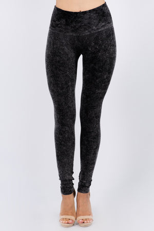 B2361USCA Mineral Wash High Waisted Legging