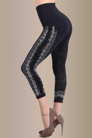 B2370M Pansy Stripes Legging