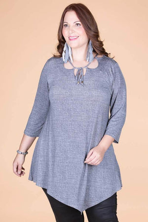Asymmetrical Light Blue Denim Tunic.  ONLINE ONLY