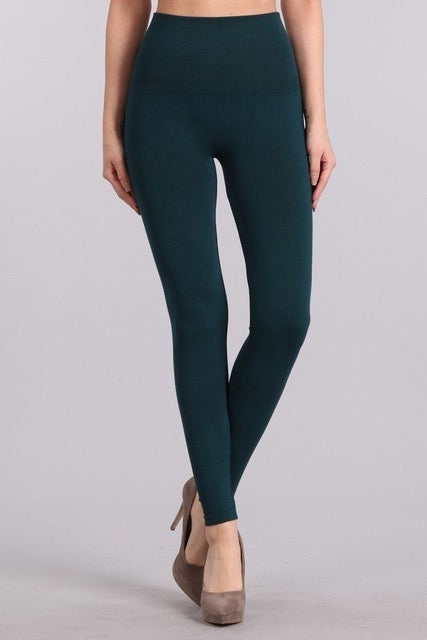 2f67f68bbf9480 B2361US Control Top Full Length Solid Leggings by M.Rena