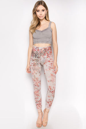 B2370BU Capri/Short Pattern Leggings