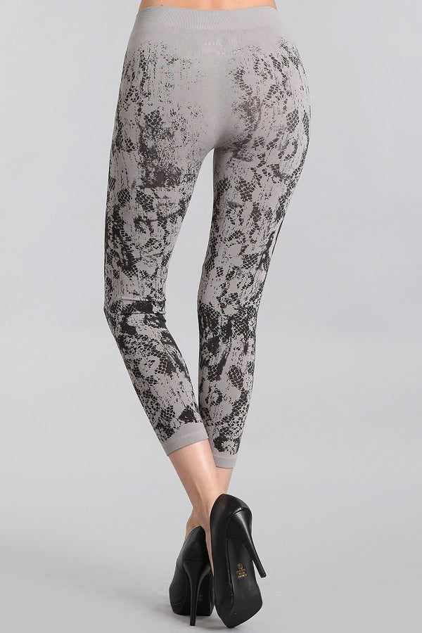 B2395E Patterned Leggings