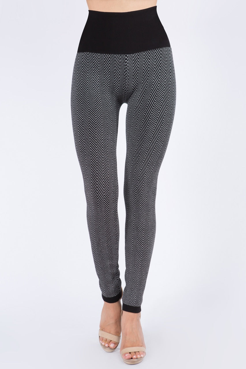 B4896 High Waist Full Length Sweater Leggings