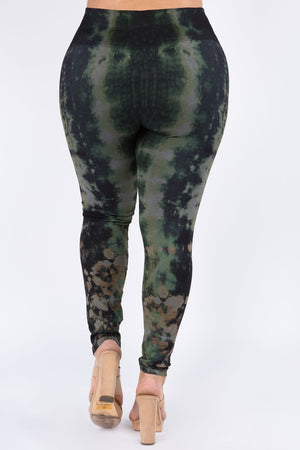 B4222XLBK Plus Size High Waist Full Length Legging