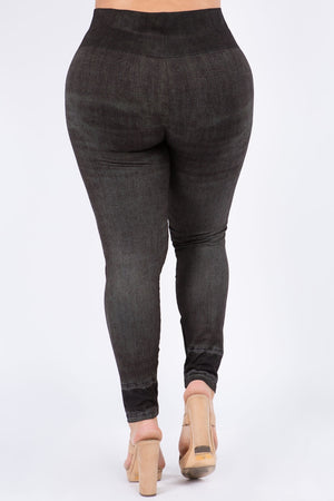 B4222XLBV Plus Size High Waist Full Length Legging