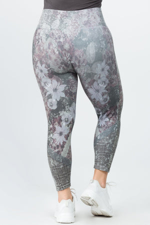 B4223XLC Capri/Short High Waist Crop Leggings Iris by M.Rena