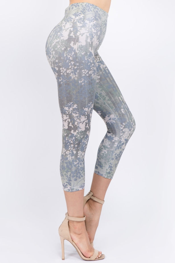 B4291B Capri/Short High Waist Leggings with Daphne Sublimation Print