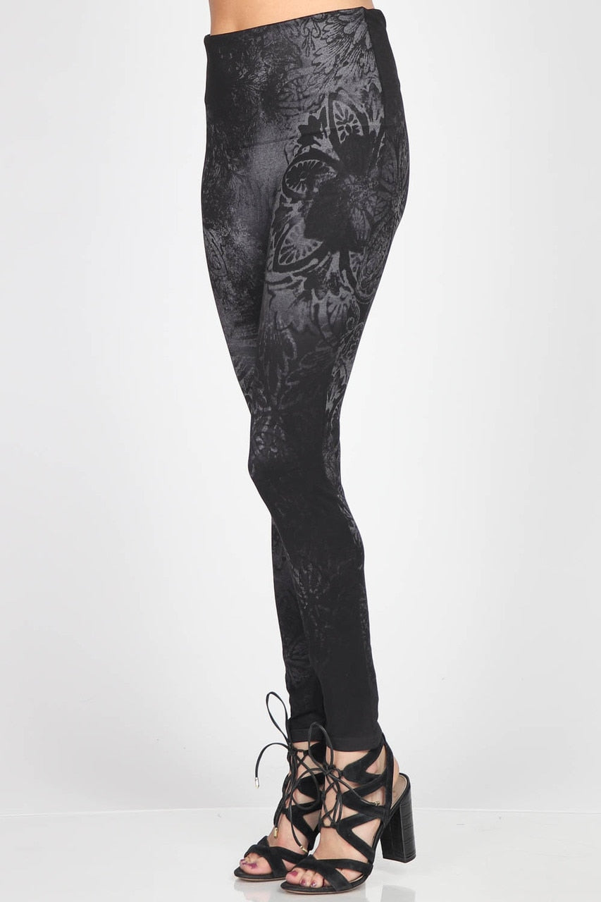 B4292AC High Waist Full Length Legging Midnight Mosaic