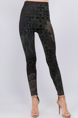 B4292AE High Waist Full Length Legging Verona