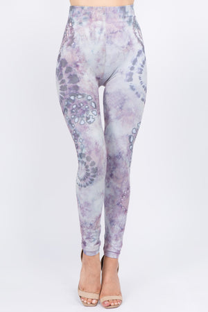 B4292AF High Waist Full Length Legging Tie Dye