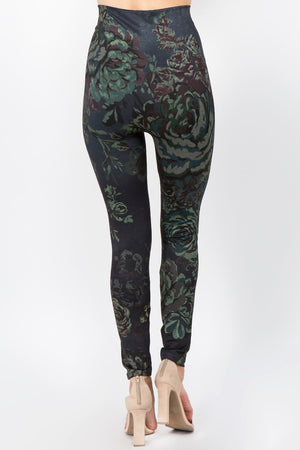 B4292AM High Waist Full Length Legging - Mediterranea